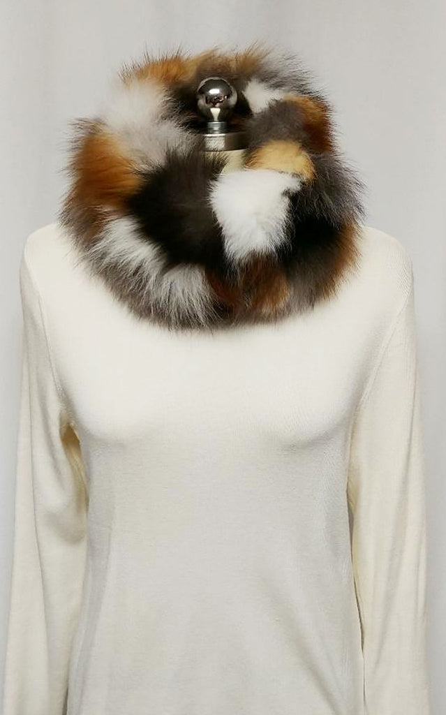 NEW -ADRIENNE LANDAU FLUFFY FOX COLLAR FROM NEIMAN MARCUS