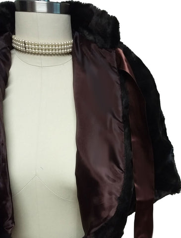 LUXURIOUSLY SOFT & PLUSH FAUX FUR CAPE / CAPELET / JACKET FOR OVER EVENING GOWNS, COCKTAIL DRESSES & PALAZZO PANTS OUTFITS