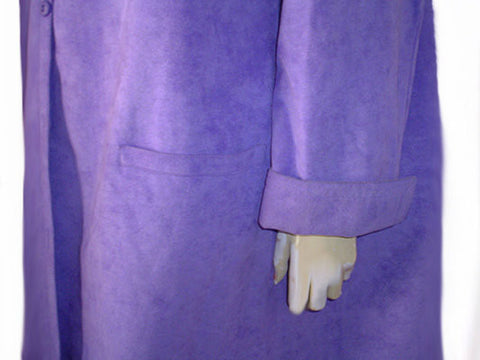 GORGEOUS VINTAGE RARE SHADE OF ULTRASUEDE - BARON PETERS ORIGINAL - I. MAGNIN ULTRASUEDE COAT - SIZE EXTRA LARGE