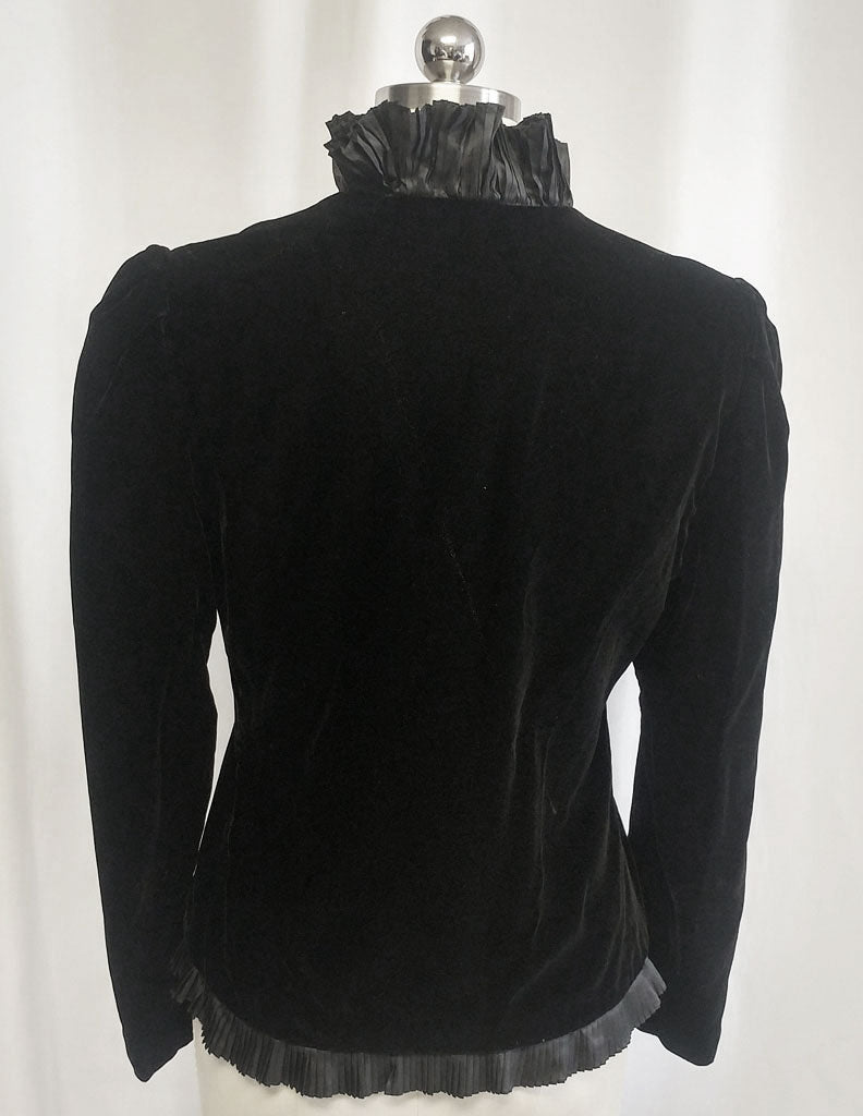 e934cde66c VINTAGE 1980 BILL BLASS COLLECTIONS III BLACK VELVET OR VELVETEEN EVENING  JACKET - PERFECT OVER EVENING