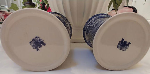NEW - BEAUTIFUL BLUE FRENCH COUNTRY TOILE DESIGN MUGS - SET OF 2 - #1