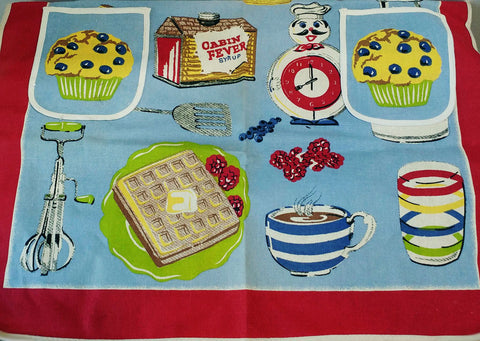 VINTAGE NICK & NORA CABIN FEVER SYRUP BREAKFAST APRON - NEW OLD STOCK