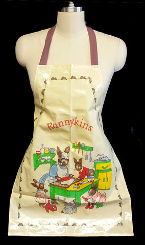 ADORABLE ROYAL DOULTON BUNNYKINS ADULT BIB APRON MADE IN THE UNITED KINGDOM - NEW OLD STOCK - NEVER WORN