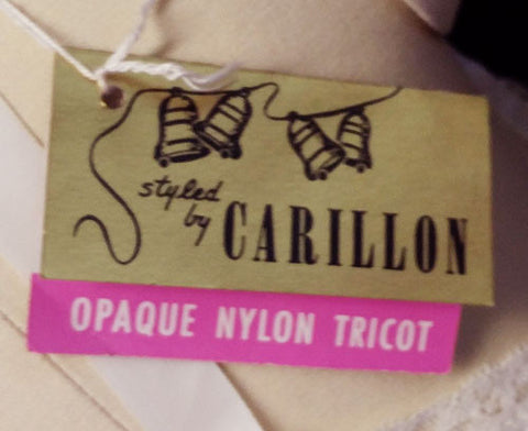 VINTAGE CARILLON DOUBLE NYLON TRICOT LACE SLIP - NEW WITH TAG - LARGER SIZE 38
