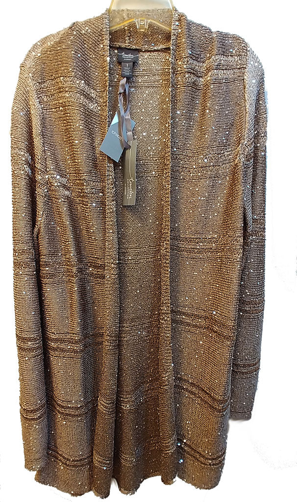 9bec1e6bbe792c NEW WITH TAGS - CHICO S SEQUIN SWEATER CARDIGAN JACKET IN GOLD ...