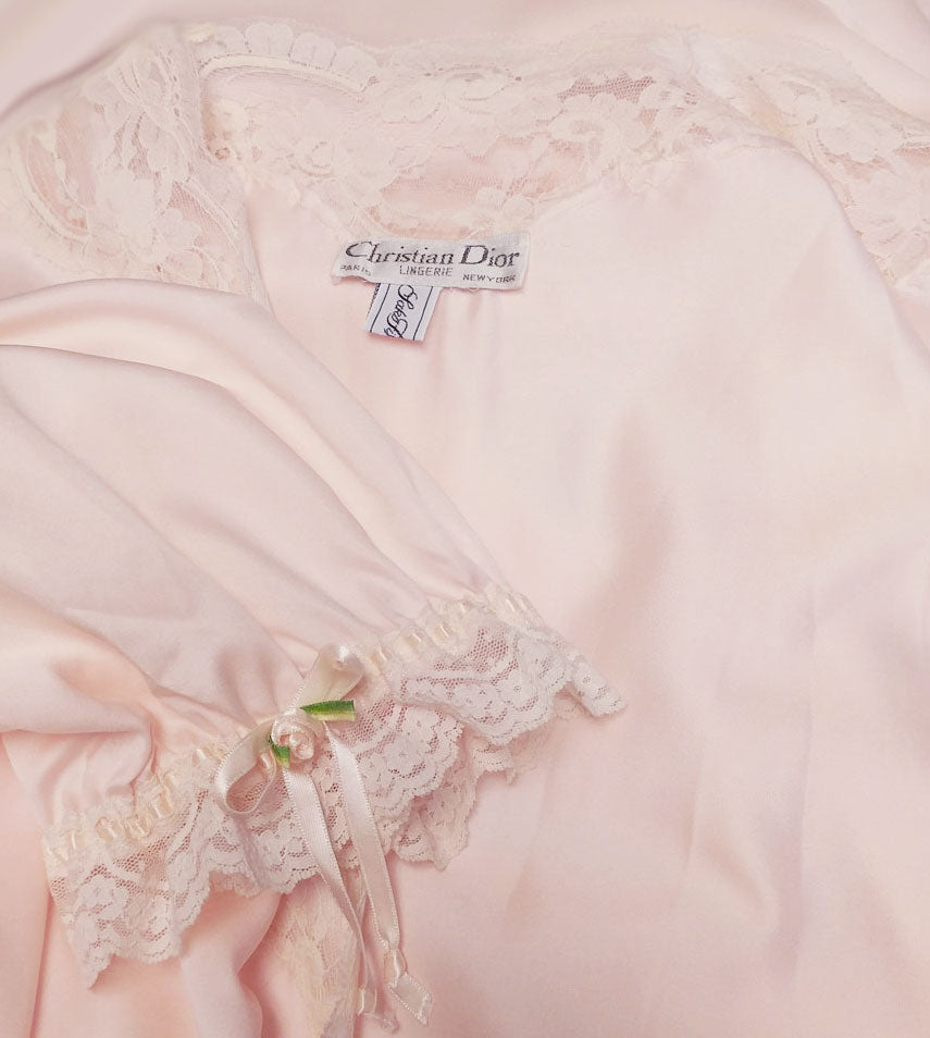 VINTAGE CHRISTIAN DIOR FROM SAKS FIFTH AVENUE SATINY DRESSING GOWN ...