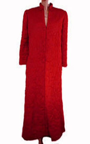 VINTAGE RARE CHRISTIAN DIOR QUILTED ROBE MADE IN HONG KONG IN CHINESE LACQUER RED  - WOULD MAKE A WONDERFUL GIFT