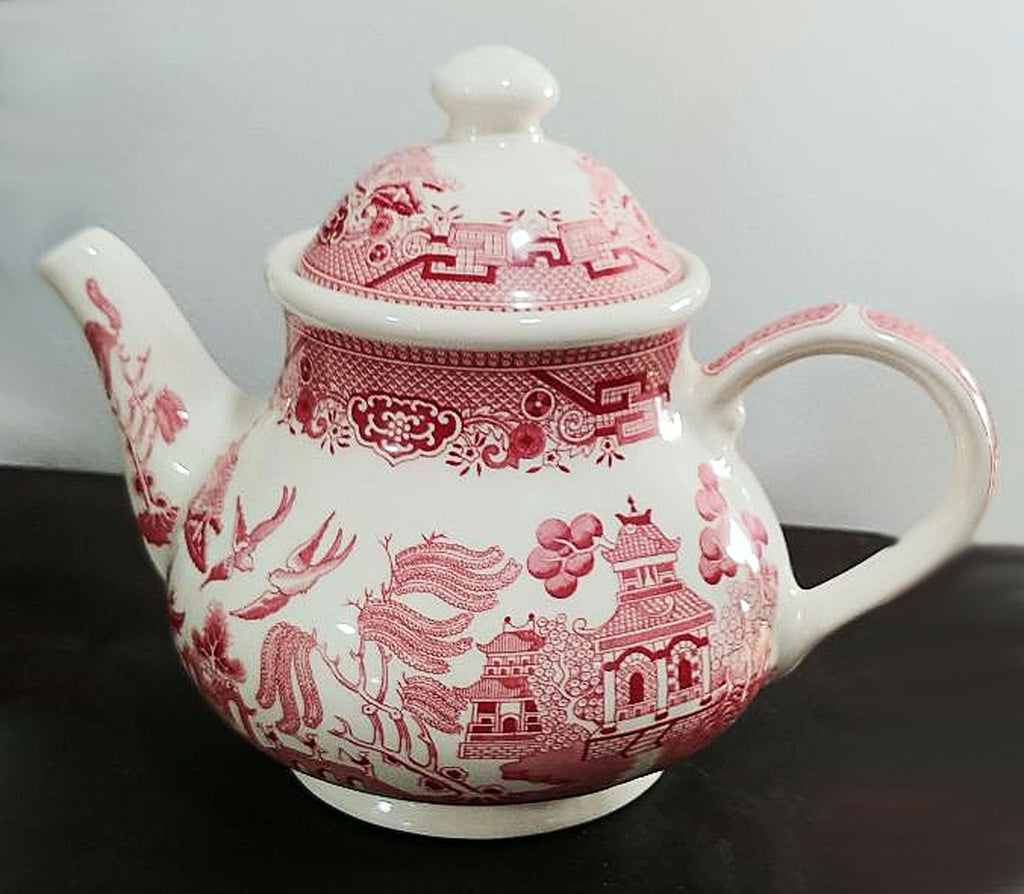 CHURCHILL WILLOW ROSA PINK TEAPOT & LID - MADE IN ENGLAND