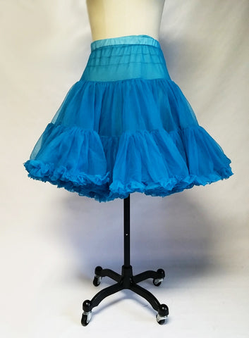 BEAUTIFUL PARTNERS PLEASE MALCO MODE DOUBLE NYLON GRAND SWEEP CRINOLINE IN PEACOCK