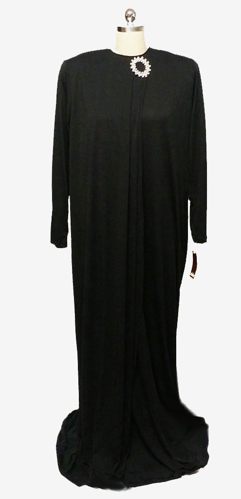 GLAMOROUS VINTAGE DAVID BROWN DRESSING GOWN EVENING GOWN WITH HUGE ...