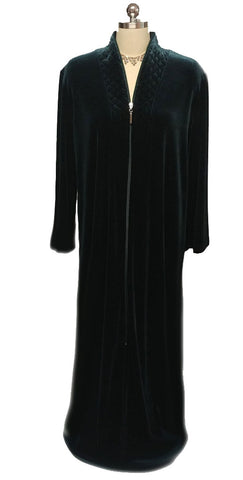 NEW - DIAMOND TEA LUXURIOUS ZIP UP FRONT VELOUR ROBE IN BAYBERRY -  #1 - SIZE SMALL