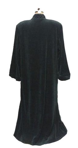 NEW - DIAMOND TEA COTTON VELOUR ROBE WITH ZIP UP FRONT & QUILTED TRIM IN ASPEN - SIZE MEDIUM- #1 - WOULD MAKE A WONDERFUL GIFT