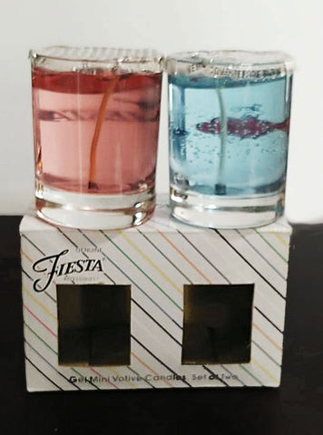 NEW OLD STOCK - FIESTA HOMER LAUGHLIN GEL MINI VOTIVE CANDLES IN A JAR SET OF 2 - #2 - GENUINE LICENSED FIESTA