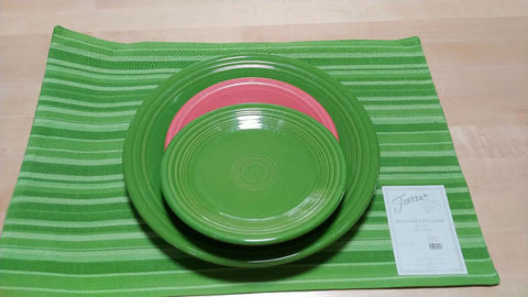 NEW FIESTA HOMER LAUGHLIN SHAMROCK JUBILEE STRIPE PLACEMATS (4)  - BRAND NEW! - GENUINE LICENSED FIESTA PRODUCT