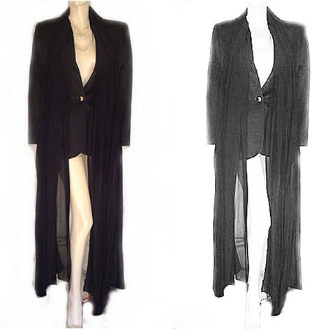 GORGEOUS GIANFRANCO FERRE STUDIO 0001 MADE IN ITALY EVENING JACKET WITH LONG CHIFFON TIES