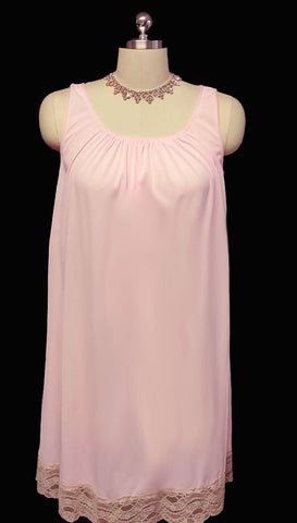 VINTAGE GILEAD BRIDAL TROUSSEAU DOUBLE NYLON NIGHTGOWN & PEIGNOIR SET IN SUGARED GUMDROP