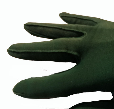 VINTAGE OPERA LONG LENGTH SELECTA ELBOW LENGTH GLOVES IN LILY PAD