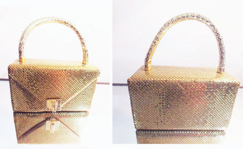 VINTAGE RECTANGLE GOLD MESH EVENING PURSE - JUST BEAUTIFUL!