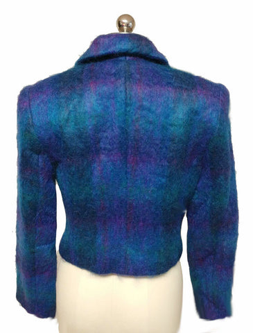 BEAUTIFUL HARRIS / WALLACE MOHAIR JACKET IN STUNNING COLORS OF NORTHERN LIGHTS