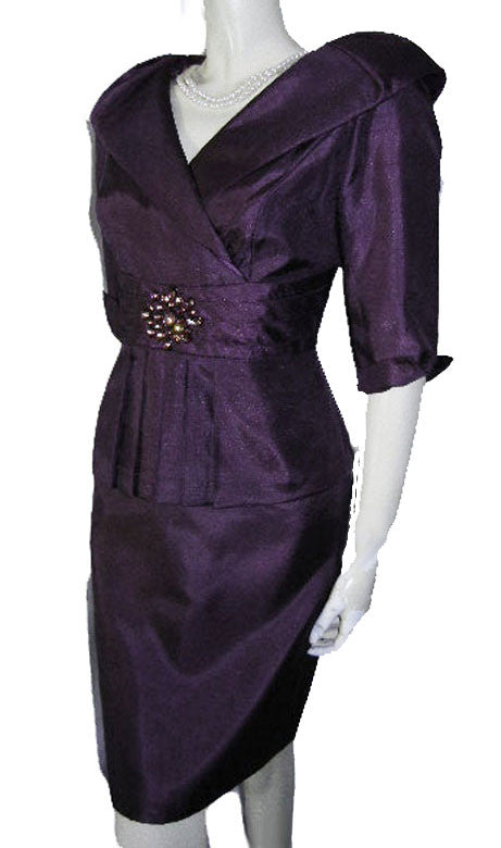 GORGEOUS JESSICA HOWARD EVENING DRESS IN AUBERGINE – NEW WITH TAG ...