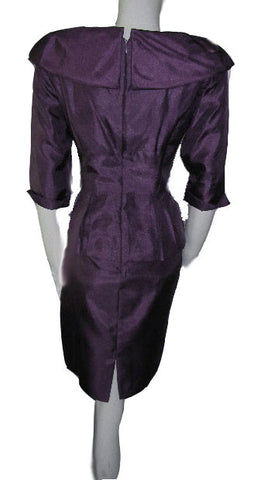 GORGEOUS JESSICA HOWARD EVENING DRESS IN AUBERGINE – NEW WITH TAG