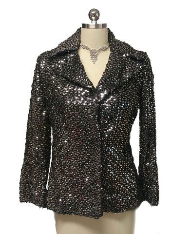 102af06a57 VINTAGE JOHN HELLER SPARKLING JACKET ENCRUSTED WITH SEQUINS - PERFECT FOR  THE HOLIDAYS