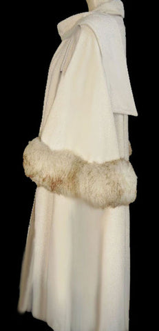 FROM MY OWN PERSONAL COLLECTION - GLAMOROUS VINTAGE KASHMIRACLE SHEARLING CAPE LIKE COAT - ABSOLUTELY BREATHTAKING!