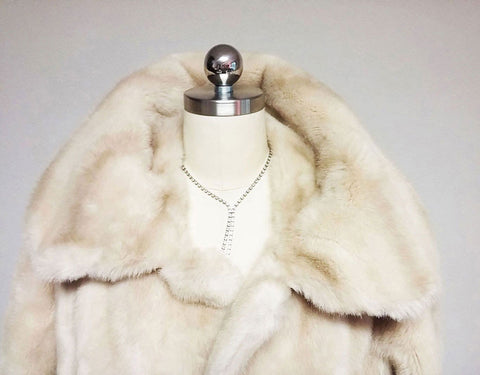 VINTAGE LATE '60s LILLI ANN FAUX FUR AND SUEDE JACKET  - BEAUTIFUL CONDITION