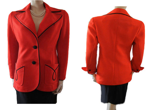 VINTAGE LILLI ANN JACKET WITH DRAMATIC STYLING