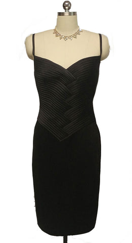 BEAUTIFUL VINTAGE LILLIE RUBIN FIGURE HUGGING COCKTAIL DRESS - NEW OLD STOCK WITH TAG $288