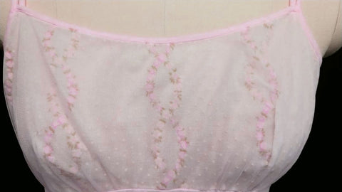 VINTAGE LISETTE DESIGNED BY AL STERLING DOUBLE NYLON BABYDOLL PEIGNOIR & NIGHTGOWN SET WITH FLOCKING