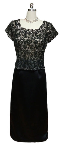 BEAUTIFUL MCCLINTOCK COLLECTIONS BLACK LONG EVENING SKIRT - JUST IN TIME FOR THE HOLIDAY PARTIES