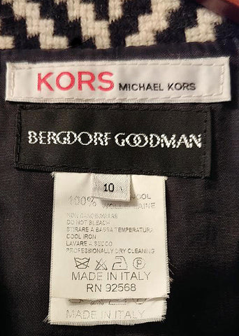 STRIKING CLASSIC MICHAEL KORS FROM BERGDORF GOODMAN COAT - MADE IN ITALY