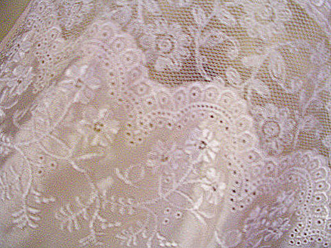 VINTAGE NEW OLD STOCK MISS DIOR SATIN BIAS-CUT EMBROIDERED LACE NIGHTGOWN - NEW WITH TAG