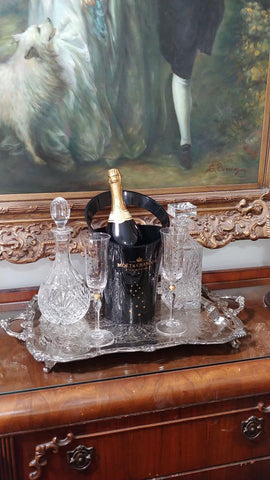 VINTAGE MOET & CHANDON LIMITED HOLIDAY EDITION BLACK ACRYLIC CHAMPAGNE BUCKET DESIGNED BY JEAN MARC GADY