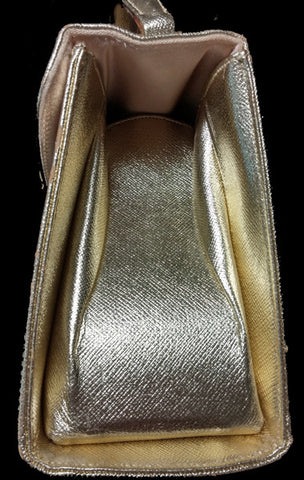 VINTAGE LATE '60s / EARLY '70s MORRIS MOSKOWITZ AKA MM GOLD RHINESTONE OWL SAFFIAN LEATHER EVENING PURSE
