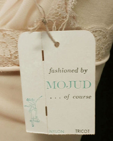 VINTAGE MOJUD SHEER TULLE RUFFLY NIGHTGOWN IN CANDLE - NEW WITH TAG