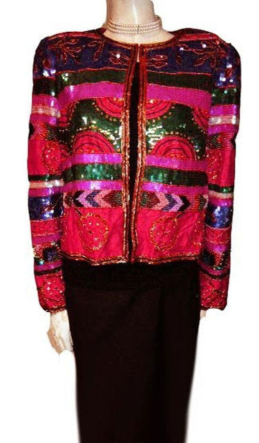 NIPON NIGHT EVENING JACKET ENCRUSTED WITH SPARKLING BEADS & SEQUINS