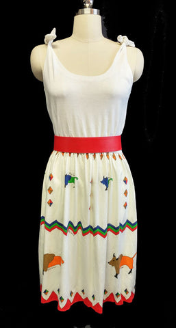 CUTE VINTAGE OLEG CASINNI SIGNATURE BISON SUMMER DRESS IN BEAUTIFUL COLORS