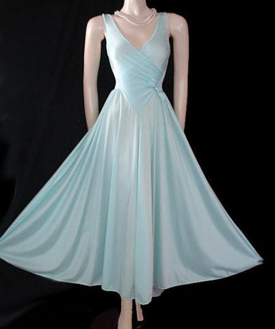 SOLD - OLGA RARE DESIGN CRISS-CROSS JACQUARD BODICE WITH BOW IN BABY BLUE