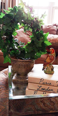 VINTAGE MID CENTURY COLORFUL HAND PAINTED PARROT STATUE