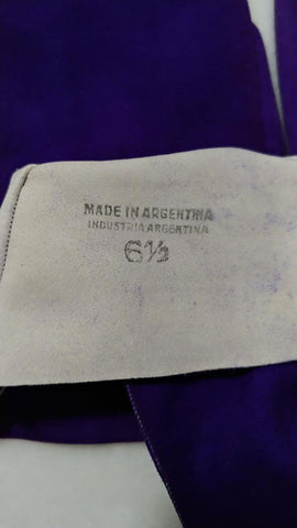 ELEGANT VINTAGE MADE IN ARGENTINA PURPLE SUEDE GLOVES