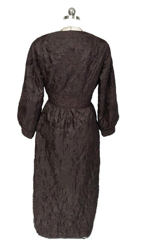 VINTAGE LATE '60s / EARLY '70s QUILTED WRAP ROBE MADE IN HONG KONG IN SUMATRA