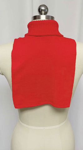 VINTAGE ORLON TURTLENECK DICKEY FOR BLAZER OR JACKET IN HOLIDAY RED  - NEW OLD STOCK - PERFECT FOR FALL!