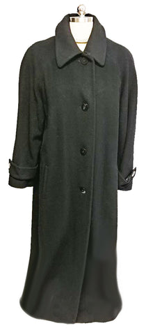 LUXURIOUS SAKS FIFTH AVENUE CASHMERE COLLECTION BLACK  MAXI COAT - SO ELEGANT