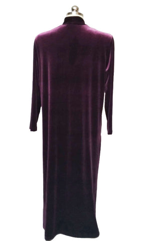 NEW - DIAMOND TEA LUXURIOUS VELOUR ZIP UP ROBE  - SIZE MEDIUM