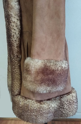 GORGEOUS VINTAGE EARLY '70s STYLED BY SCULLY SNOW QUEEN SUEDE & FUR COAT