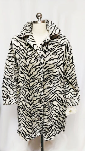 NEW OLD STOCK - VINTAGE STAN HERMAN FURRY ZEBRA ROBE - NEW WITH TAG