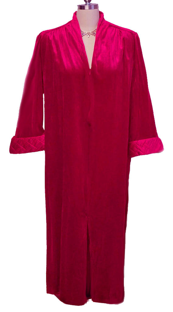 VINTAGE TAMMY VELOUR ZIP UP QUILTED ROBE /DRESSING GOWN IN RAVISHING ...