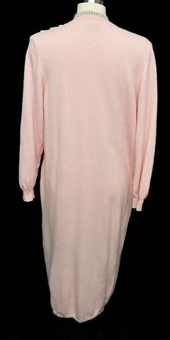 BEAUTIFUL UNITED COLORS OF BENETTON MADE IN ITALY PINK SWEATER ROBE